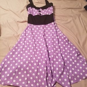 New polka dot purple dress Medium